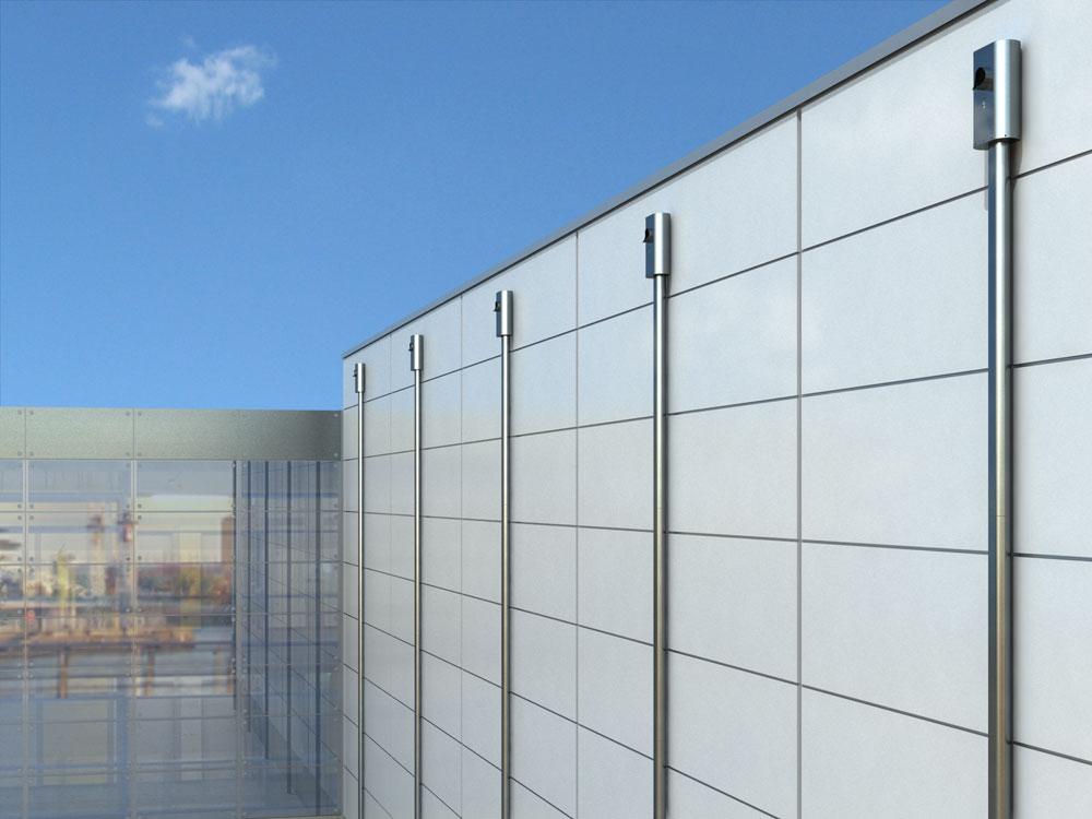 Fassade bürogebäude  Fassade Bürogebäude | ArchViz | 3D-Visualisierung, Illustration ...