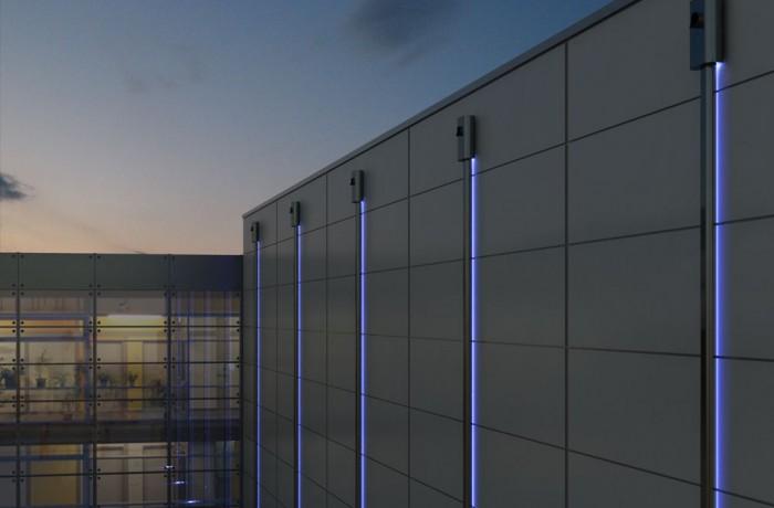 Nachtansicht Bürogebäude